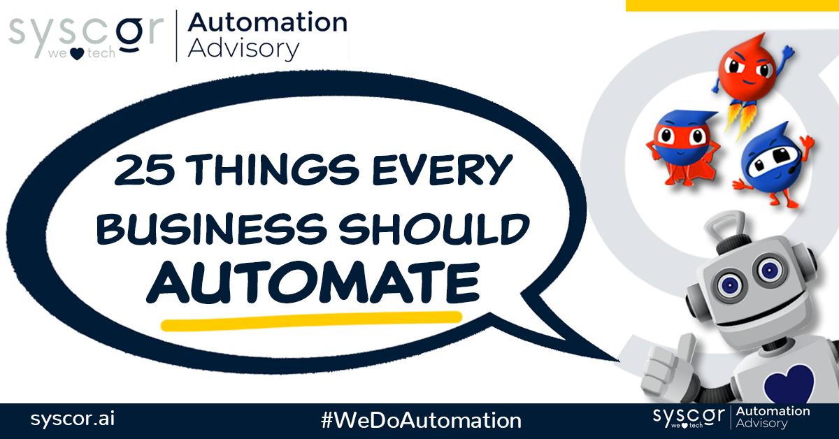 Processes businesses should automate
